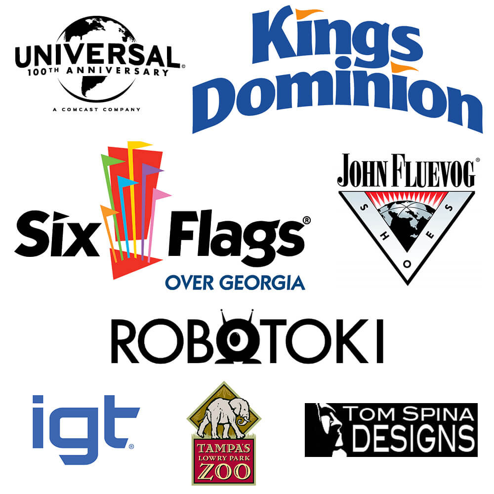 Universal Studios, Kings Dominion, Six Flags, Robotoki, IGT, Tom Spina Designs